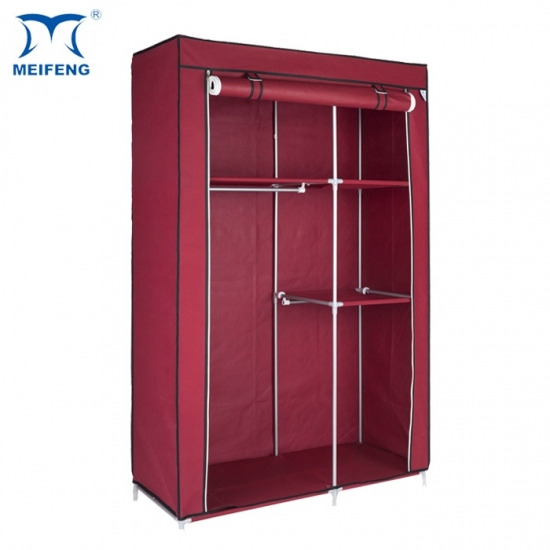 Meifeng Non Woven Bedroom Furniture Hanging Plastic Closet