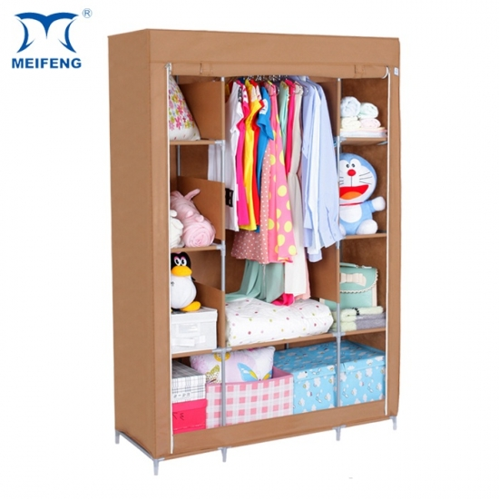 New Non Woven Fabric Folding Underwear Storage Box Bedroom: MEIFENG Foldable Wardrobe Almirah Cloth Cabinet Products