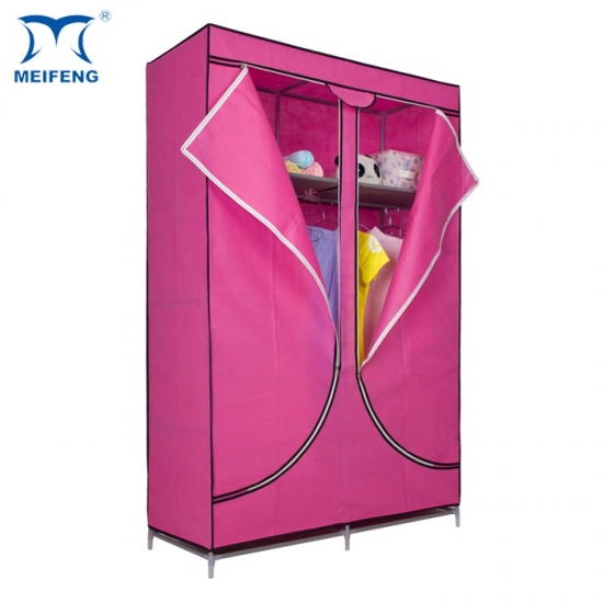 MEIFENG Canvas Wardrobe Closet With